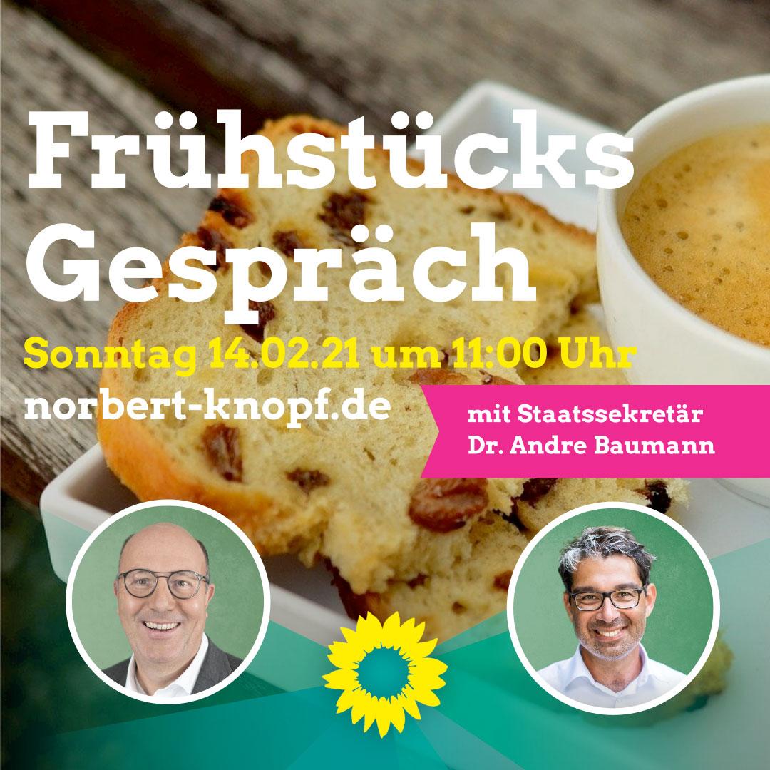 Frühstücksgespräch mit MdB Dr. Andre Baumann