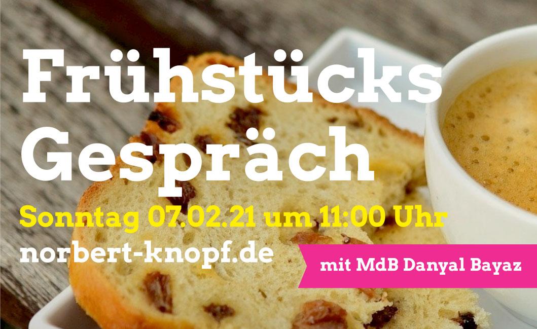 Online-Frühstücksgespräch mit MdB Dr. Danyal Bayaz