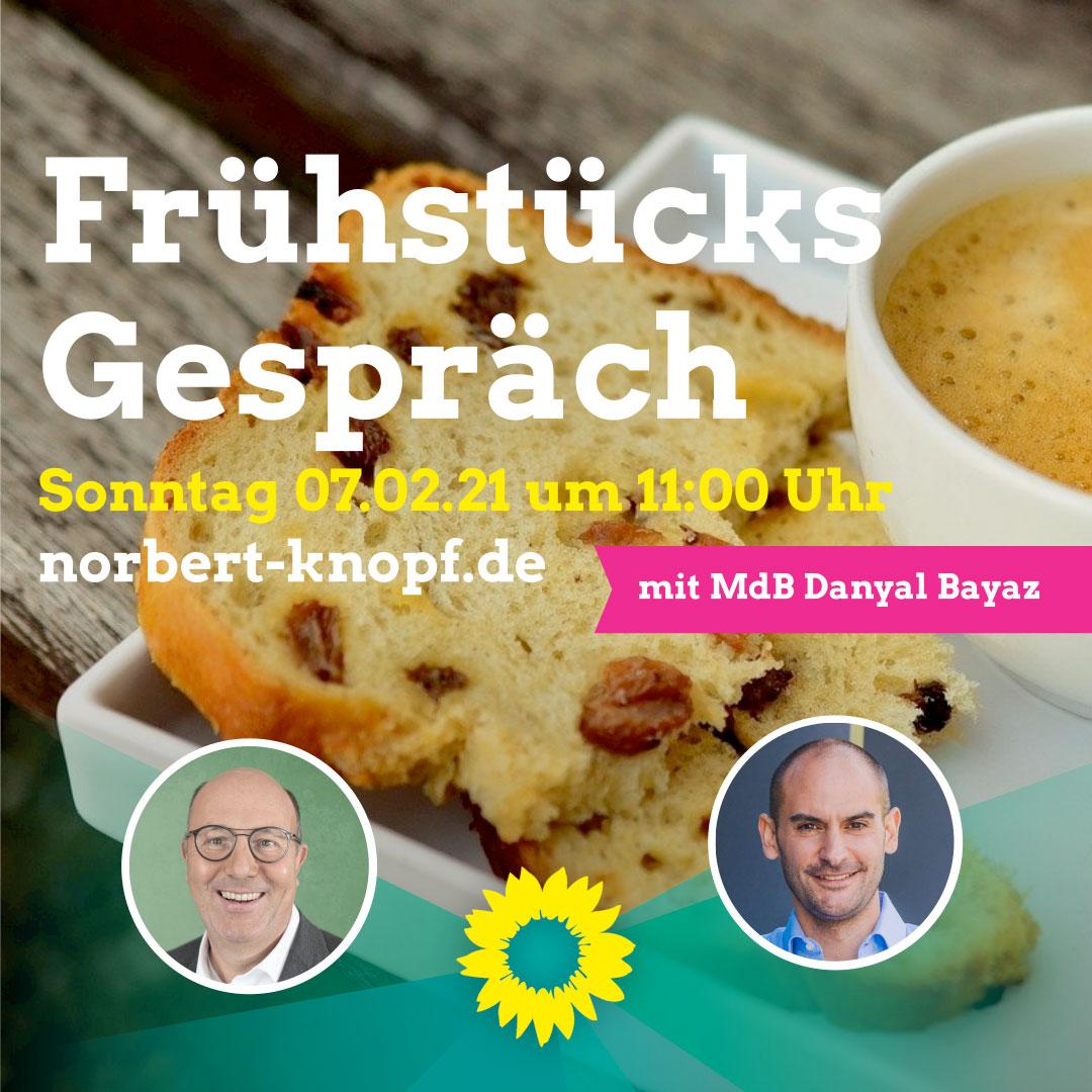 Frühstücksgespräch mit MdB Dr. Danyal Bayaz