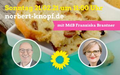 Frühstücksgespräch mit der Bundestagsabgeordneten Franziska Brantner