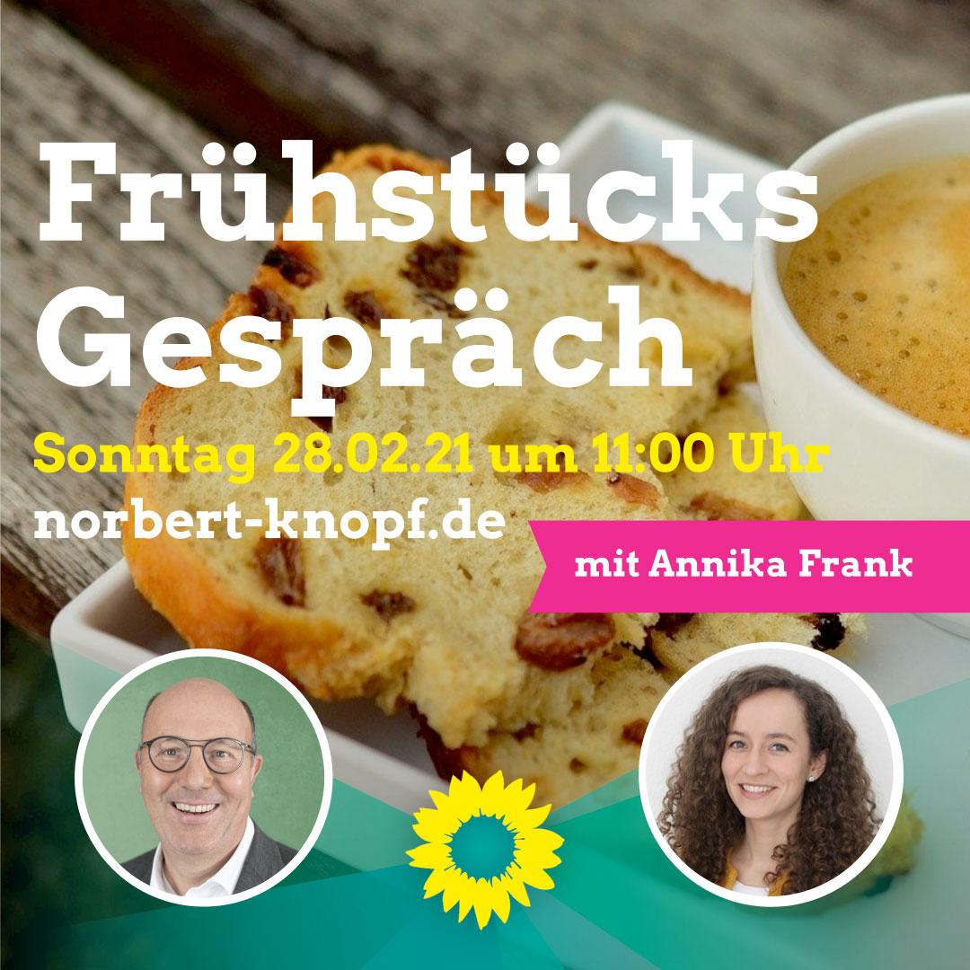 Frühstücksgespräch mit der Cartoonistin Annika Frank
