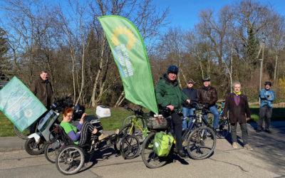 Wahlkampfradtour mit Norbert Knopf