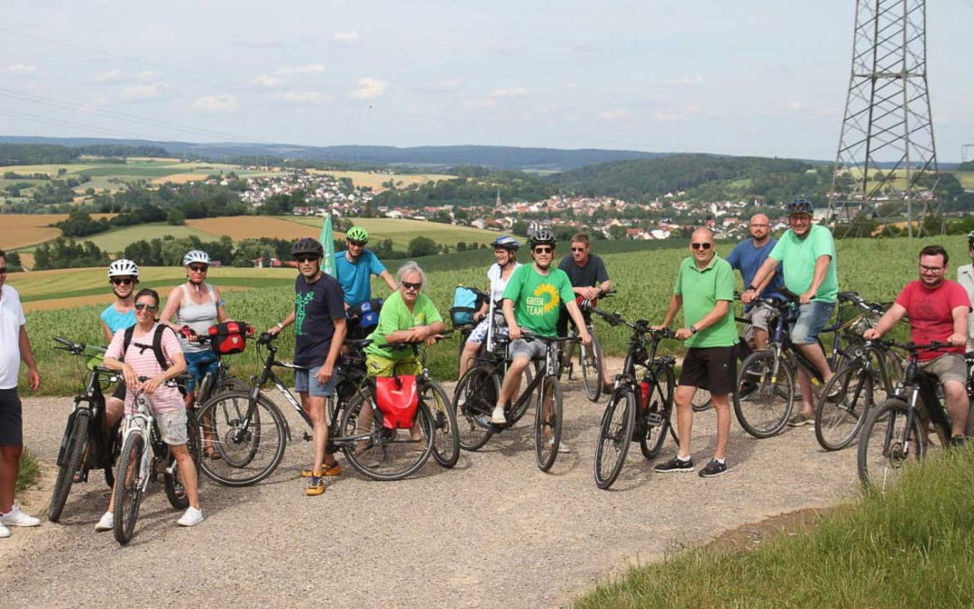 Grüne Fahrrad-Staffelfahrt mit Bundestagskandidat Jürgen Kretz